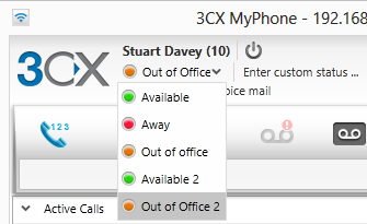 How to automatically update your 3CX My Phone Status when